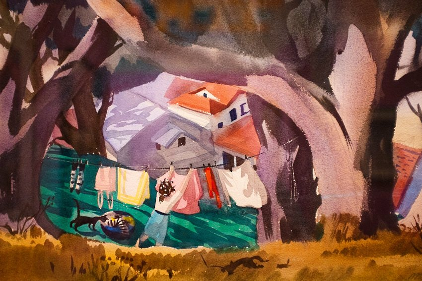 Mary Blair Art Exhibit Disney Family Museum 015