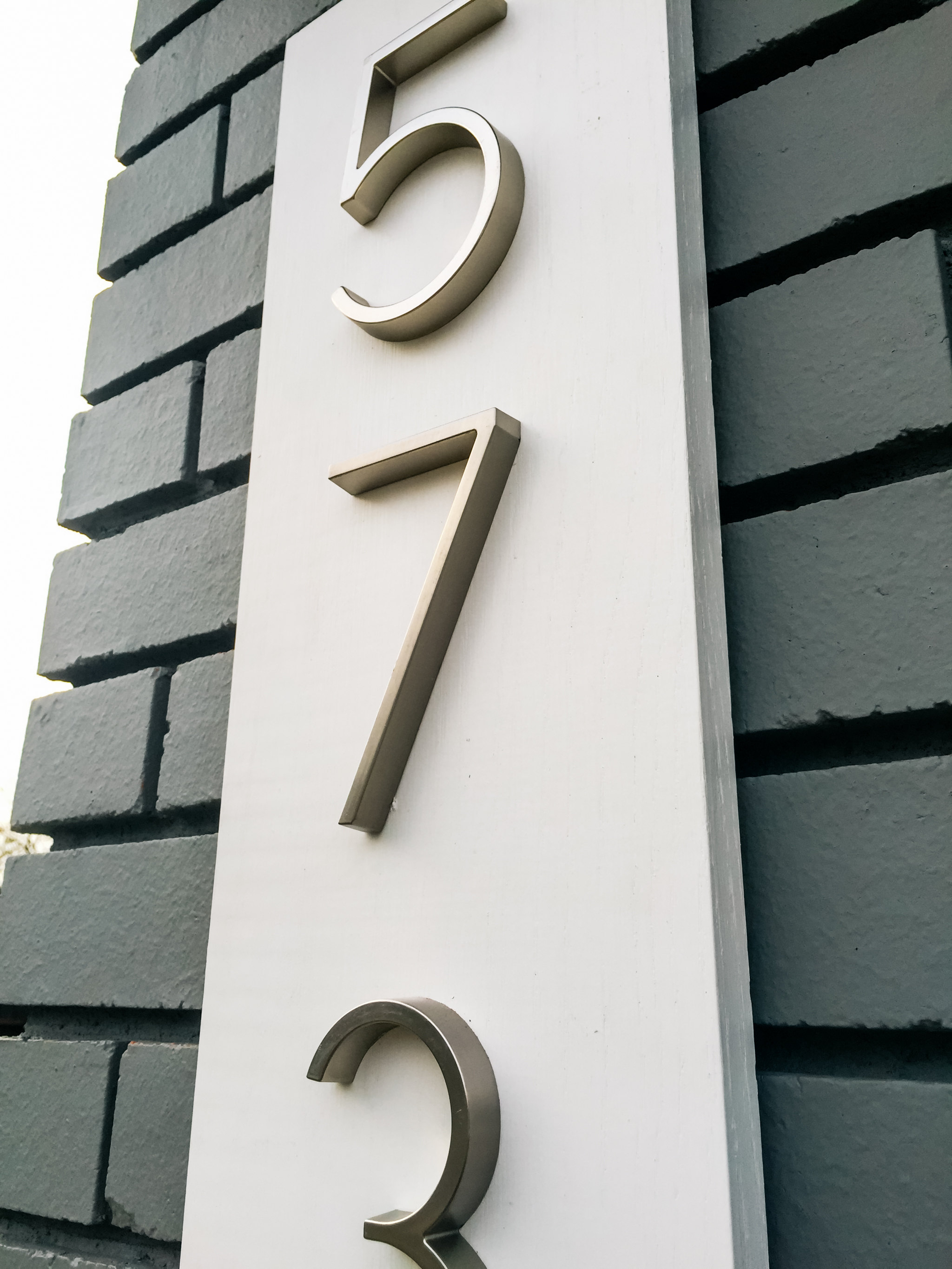 New house numbers Hello Bardot