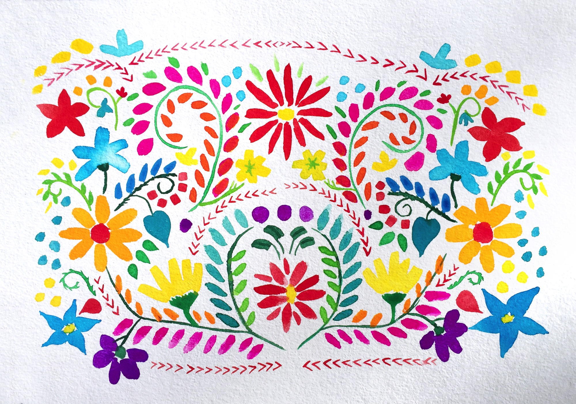 Mexicanembroidery on topsy one