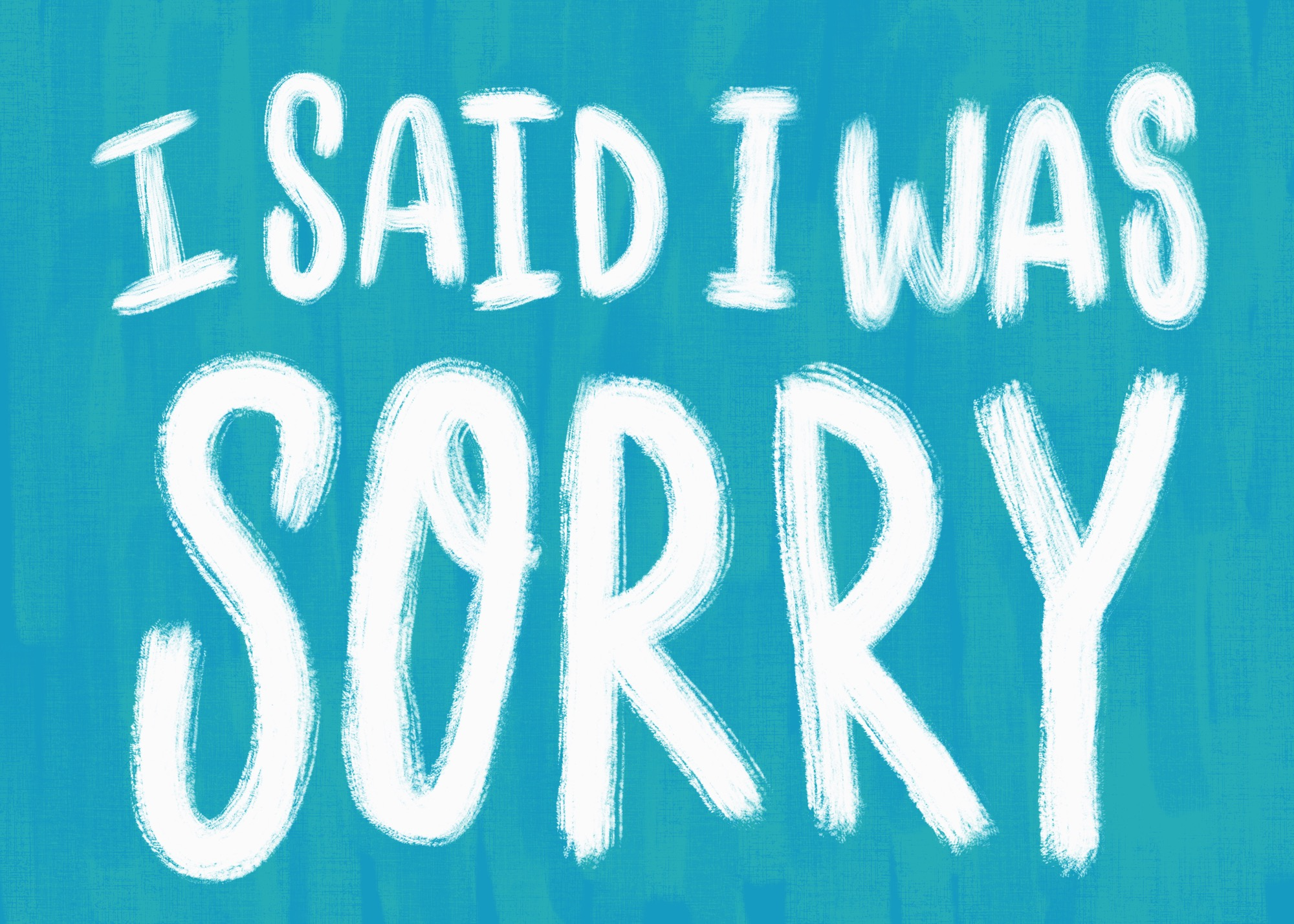 Apology by Lisa Bardot