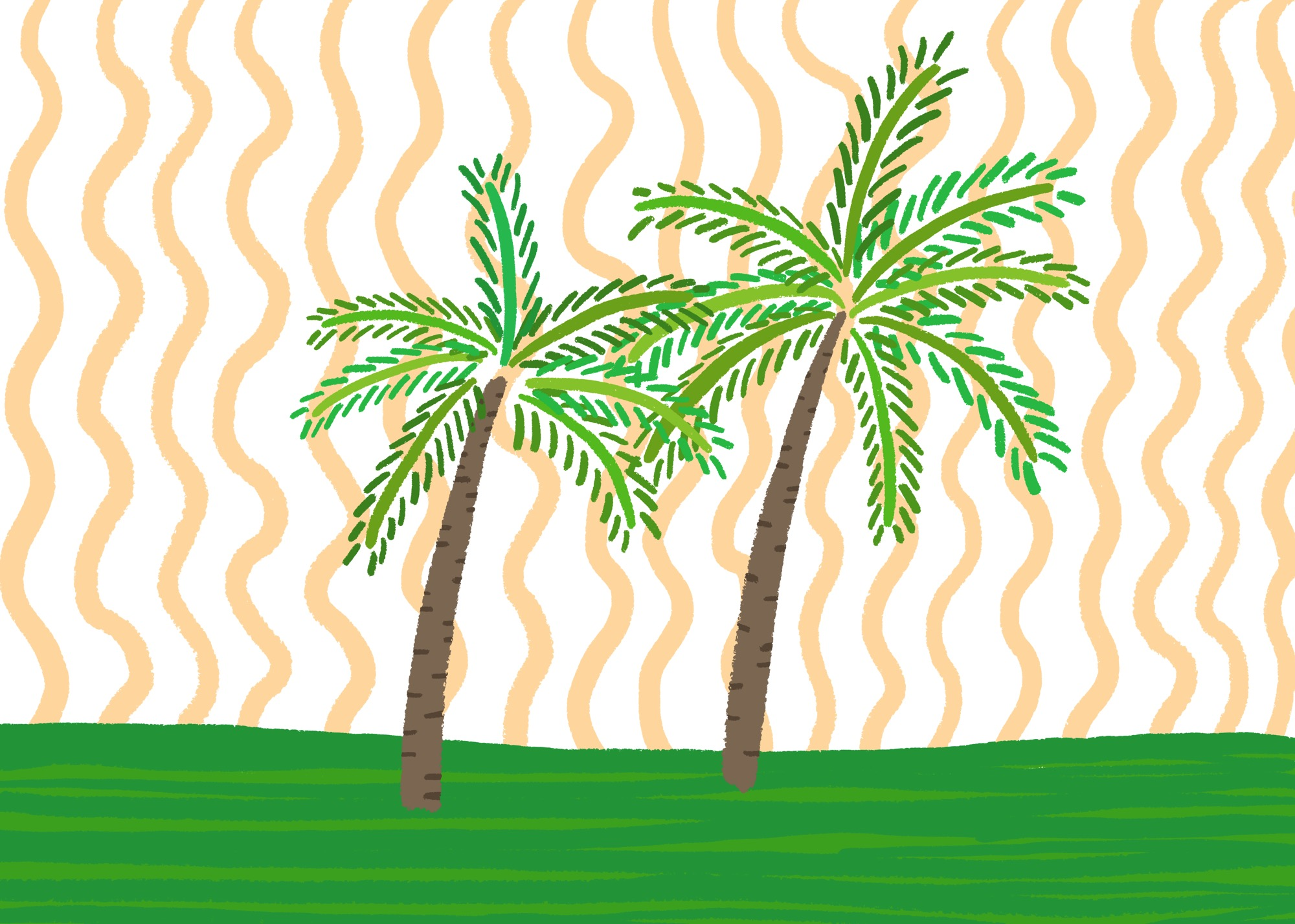 Palm Trees by Lisa Bardot