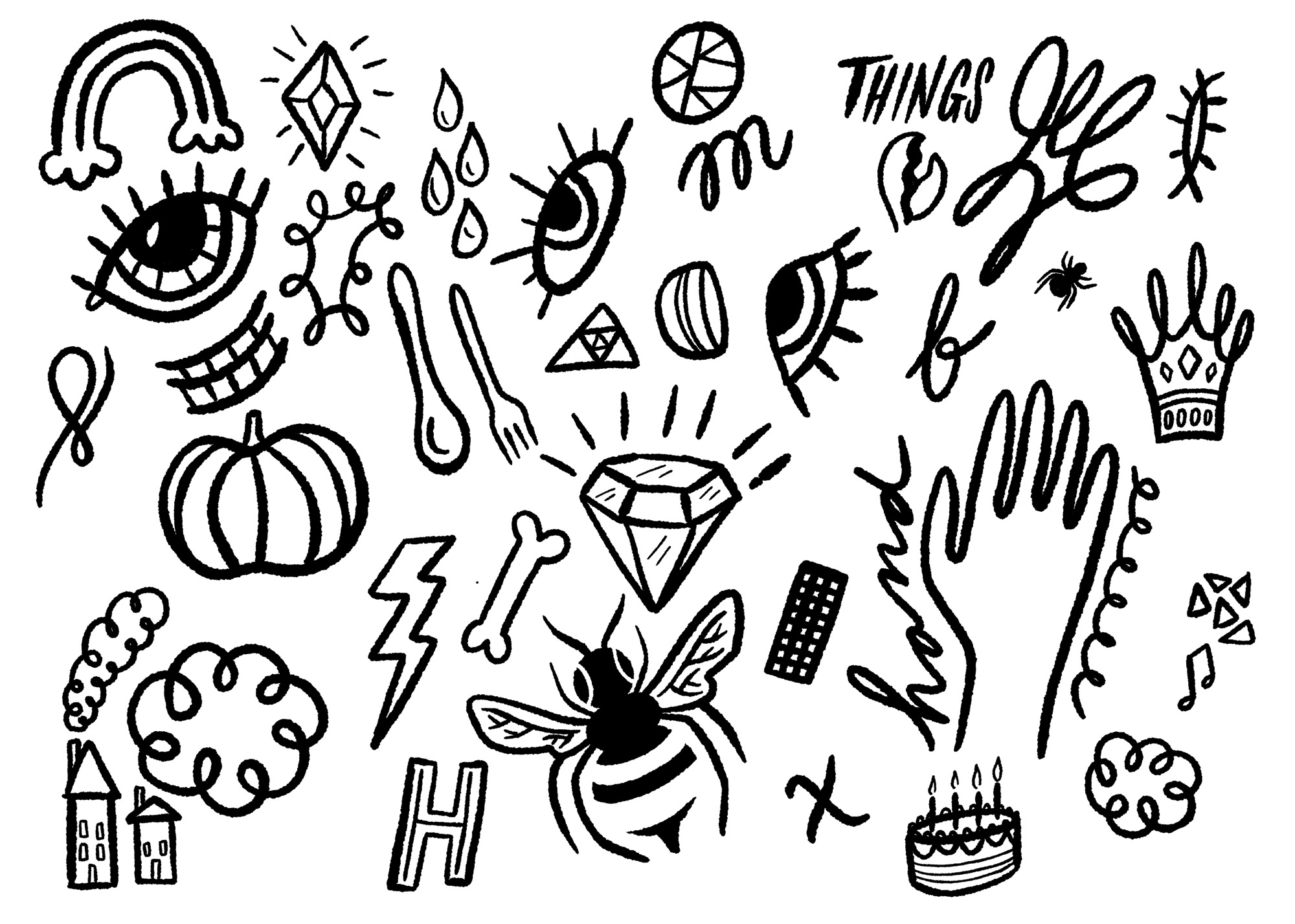 October Doodles by Lisa Bardot