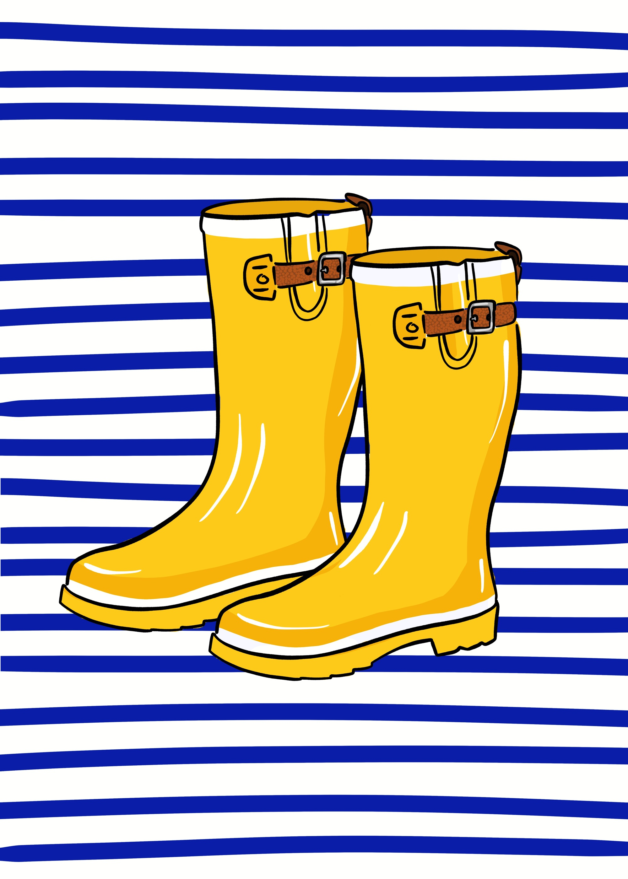 Yellow Rain Boots by Lisa Bardot
