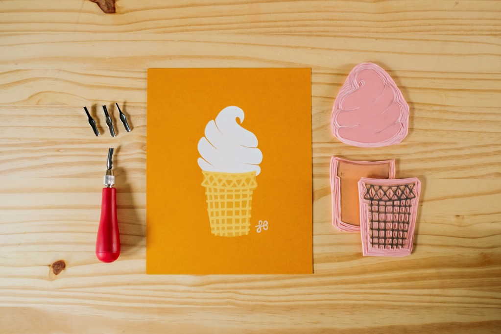 Ice Cream Block Print by Lisa Bardot Photo 005