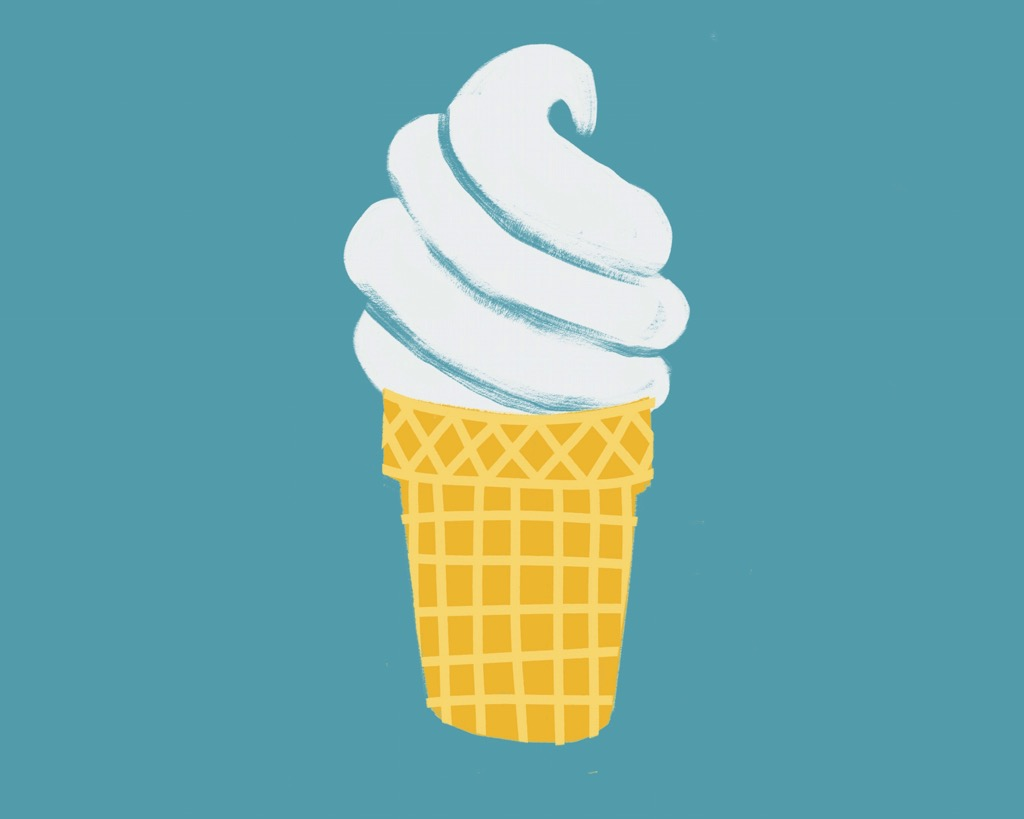 Ice Cream Block Print Sketch